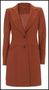 Burnt Orange Coat - Littlewoods AW11.