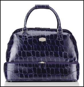 Jasper Conran For Tripp Luggage - Purple Croc Large Tote Bag.