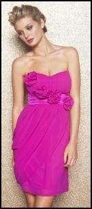 Vibrant Pink Corsage Detail Dress.