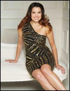 Teatro Sequin One Shoulder Dress.