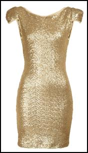 Fashion Union Gold Sequin Bodycon Dress.