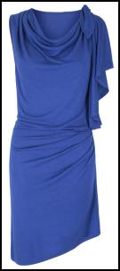Monsoon Accessorize Blue Cowl Drape Dress.