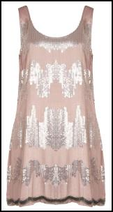 Fashion Union Pink & Silver Sequin Sixties Shift Tunic Dress.