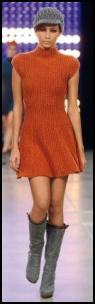 Benetton Catwalk Orange Fashion Knitwear.