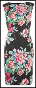 Exotic Pink Flower Print Dress.