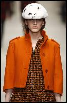 Heritage on the Catwalk AW11. Burberry Orange Cropped Jacket.