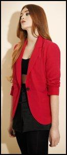 Miss Selfridge Red Boyfriend Blazer.