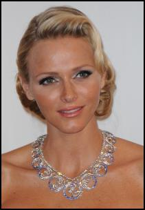 H.S.H. Princess Charlene & Van Cleef & Arpels Necklace.