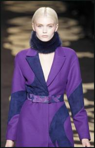 Gucci Purple Parti-Colour Coat.