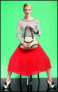Dorothy Perkins Pleated Red Skirt.
