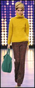 Softer Colour Blocking -  Yellow Ribbed Sweater Benetton.