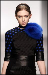 Black Blue Spot Outfit -  David Koma.