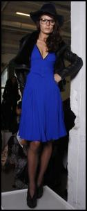 Malandrino Blue V Neck Dress.
