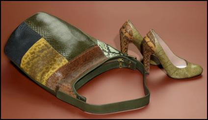 Mulberry Autumn 2011/Winter 2012 Green Bag & Shoes.