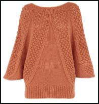 Oasis AW11 Textured Chunky Tunic Top Knit .
