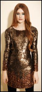 Bronze Sequin Dress Miss Selfridge Christmas 2011.
