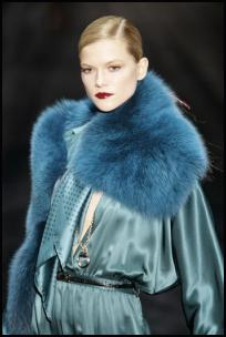 Gucci AW11 - Teal Fur Throw.