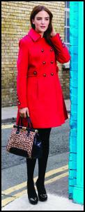 Matalan AW11 Lovely Red Coat.