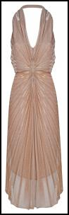 Sunray Pleated Lurex Sheen Dress.