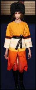 Valentin Yudashkin AW11 - Gold/Cream/Orange/Black Coat.