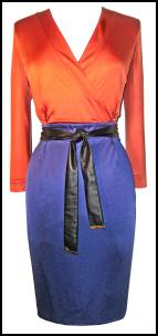 Burnt Out But Opulent - Gucci Colour Block Belted Jersey Wrap-Effect Dress