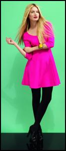 Dorothy Perkins - Pink 60s Tunic Dress.