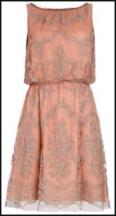 Etienne Lace Peach Dress. Monsoon AW11.