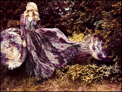 Tie Dye Tones of Purple Maxi Dress - Monsoon/Accessorize AW11.