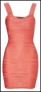 Primark Body Con Pink Peach Dress.