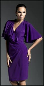 M&Co Purple Dress Bell Sleeve Dress.