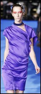 Thakoon AW11 - Side Draped Purple Satin Dress.
