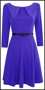 Wallis Violet Blue Dress.