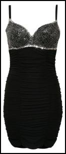 Black Beaded Bra Cup Dress.