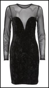 Topshop Mesh & Crushed Velvet Dress.