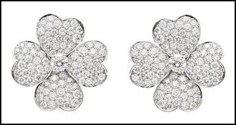 Cosmos Earrings, White Gold & Diamonds.