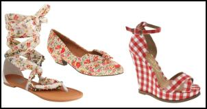 Floral and Check Shoess
