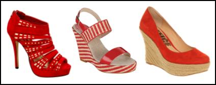 Red Wedge Shoes.
