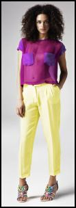 River Island Yelow Pants.