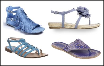 Blue Fringe Sandals Summer 2011.