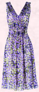 Phase Eight Violetta Print Silk Dress.