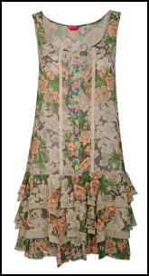 Brighton Rose Ra-Ra Skirt Floral Dress.