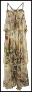 Watercolour Floral Tiered Chiffon Maxi Dress.