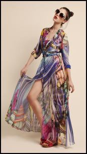 Kaleidoscopic Print Maxi Dress - River Island 2011.