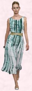 Sea Green Tie Dye Print Dress
