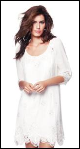Monsoon Ivory Lace Tunic.