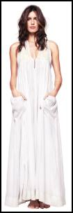 Santa Ines Ivory Organic Cotton Maxi Dress.
