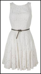 Womens White Lace Prom Dress.