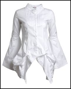 Bell Sleeve Womens Fashion Hitch Up Origami Shirt.