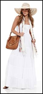 White Strappy Tiered Maxi Dress - Summer 2011 Fashion.