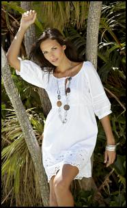 White Broderie Tunic